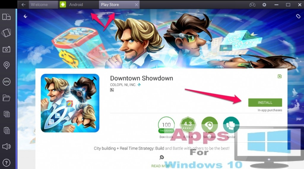 Downtown_Showdown_For_Windows10_Mac