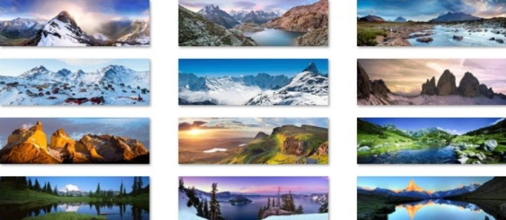 panoramic mountain theme for windows download free