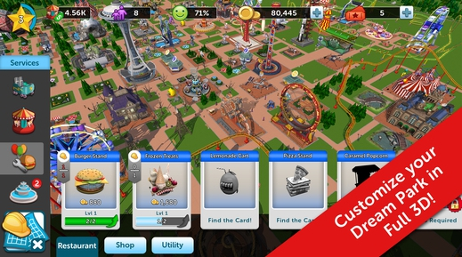 rollecoaster tycoon touch for pc download