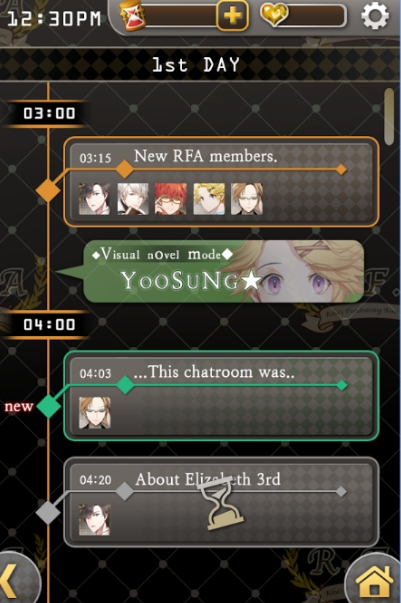 mystic messenger pc screenshot